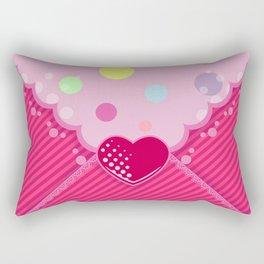 Ultra Rare Heart Envelope Rectangular Pillow