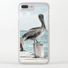 Pelicans line-up Clear iPhone Case