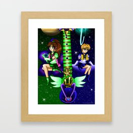 Fusion Sailor Moon Guitar #34 - Sailor Juptier & Sailor Uranus Framed Art Print