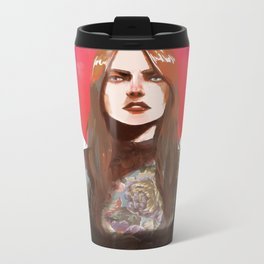 Red Moon Metal Travel Mug