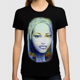 Creole African Girl Portrait Hand Drawing  T-shirt