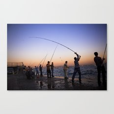 istanbul fishers Canvas Print