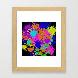 Splatoon Ink Fight Pattern Framed Art Print