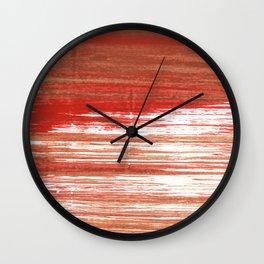 Medium carmine abstract watercolor Wall Clock