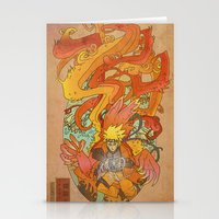 naruto Stationery Cards featuring Woodblock Naruto by Sempaiko