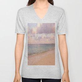 Dreamy Beach View Unisex V-Neck