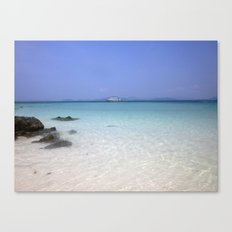 blue skies, clear waters Canvas Print