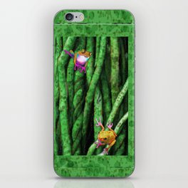 Tree Frogs and Vines iPhone Skin