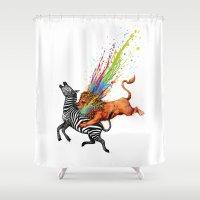 kill la kill Shower Curtains featuring Kill Monotony by Enkel Dika