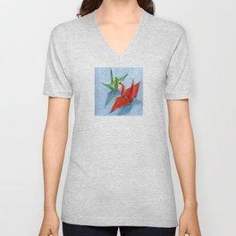 Origami Cranes Unisex V-Neck