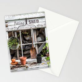 Potting Shed At Work Stationery Cards