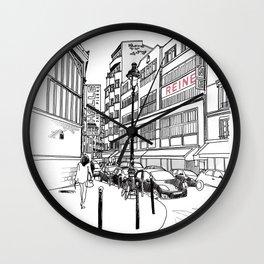 Paris, rue Saint Pierre Wall Clock