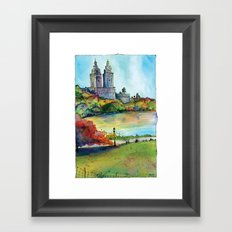 The San Remo in Autumn, Central Park, NYC Framed Art Print