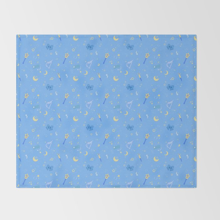Sailor Mercury Pattern Throw Blanket