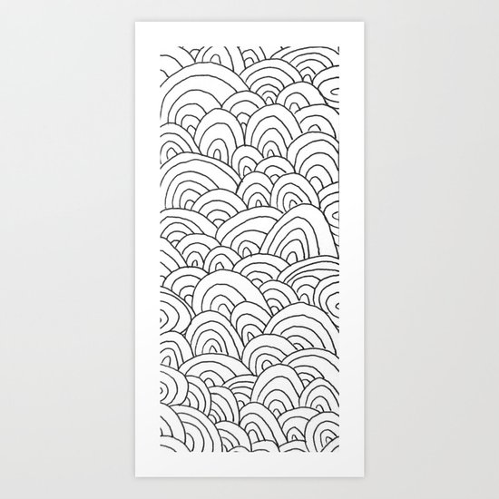 Sea of Lines 2 Art Print
