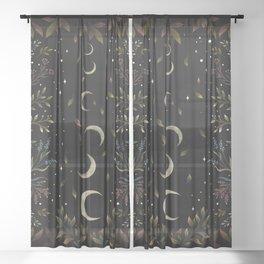Crescent Moon Garden Sheer Curtain