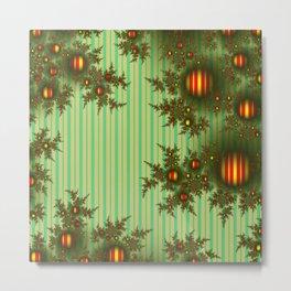 Vintage Christmas fractal Metal Print