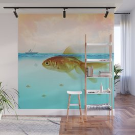 Drop me a line - Fishing for a Chat Wall Mural