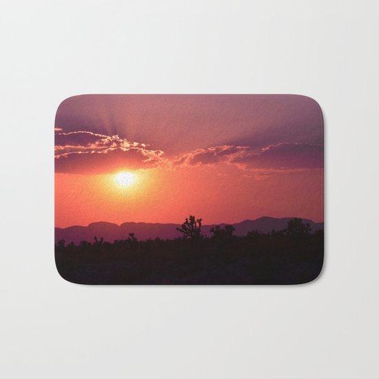 Desert Sunset Silhouettes Bath Mat