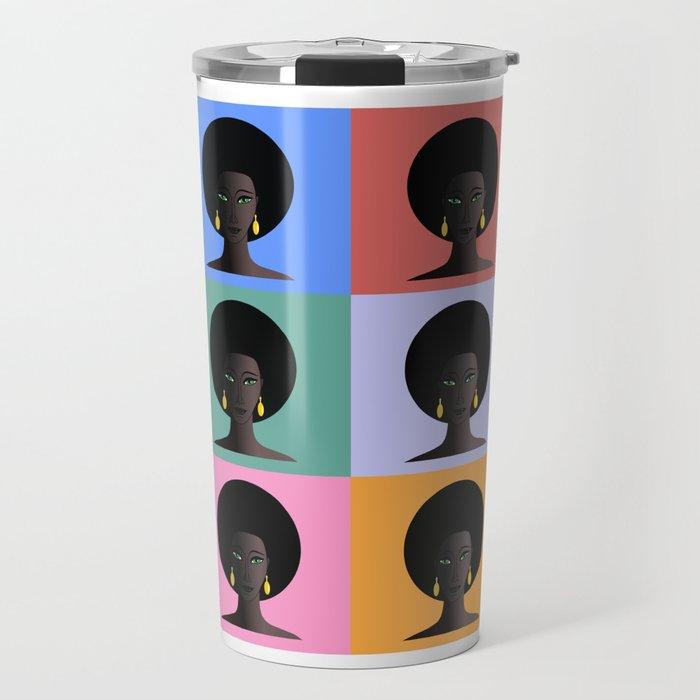 Black Woman, Black Pride Travel Mug