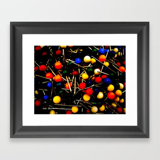 On Pins and Needles Framed Art Print