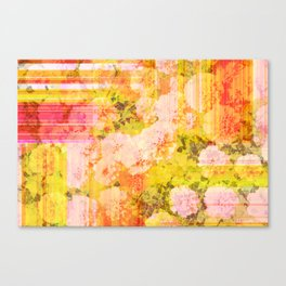 Warm Marigold Abstract Canvas Print