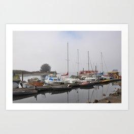 Boats of Morro Bay, Ca Art Print