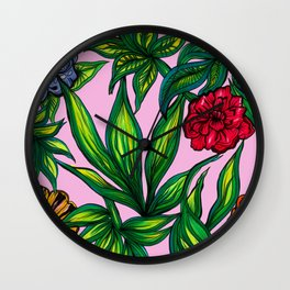 """Floral Jungle"" Wall Clock"