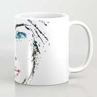 no face Mugs featuring face by Artemio Studio
