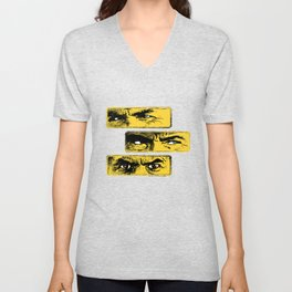 Gun Fight Threesome Unisex V-Neck