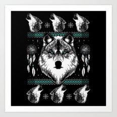 Merry Wolfmas Art Print