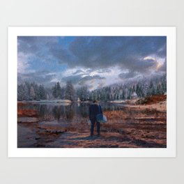 The coming of the dawn Art Print