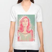 allison argent V-neck T-shirts featuring allison + colors by aprilsarts