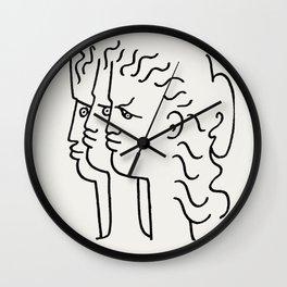 Poster-Jean Cocteau-Three profiles. Wall Clock