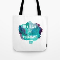 VEGAN PUN//THIS IS JUST THE VEGANNING Tote Bag
