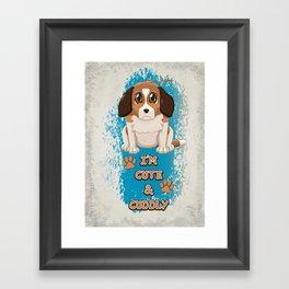 Cute & Cuddly Puppy Framed Art Print