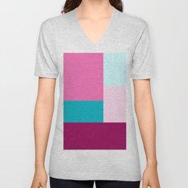 Happy Place Color Blocks Unisex V-Neck