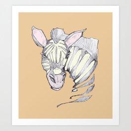 ZEBRA STYLE Art Print