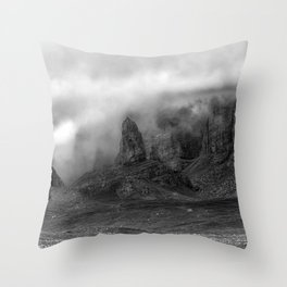 Old Man of Storr on the Isle of Skye Throw Pillow