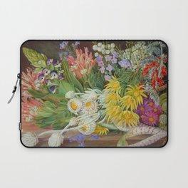 Medley of Wild Summer Mountain Flowers still life painting Laptop Sleeve