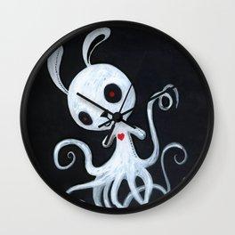 bunnnypus in the dark Wall Clock