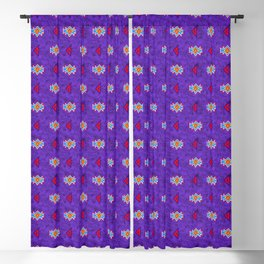 Saved by the Bellding 80s 90s Aztec Acid Wash Pattern Blackout Curtain