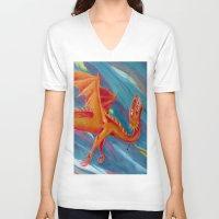 pain V-neck T-shirts featuring PAIN by STELZ (Vlad Shtelts)