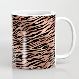 Copper and black metal tiger skin Coffee Mug