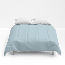 Soft Chalky Pastel Blue Solid Color Comforters