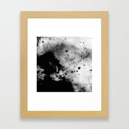 War - Abstract Black And White Framed Art Print