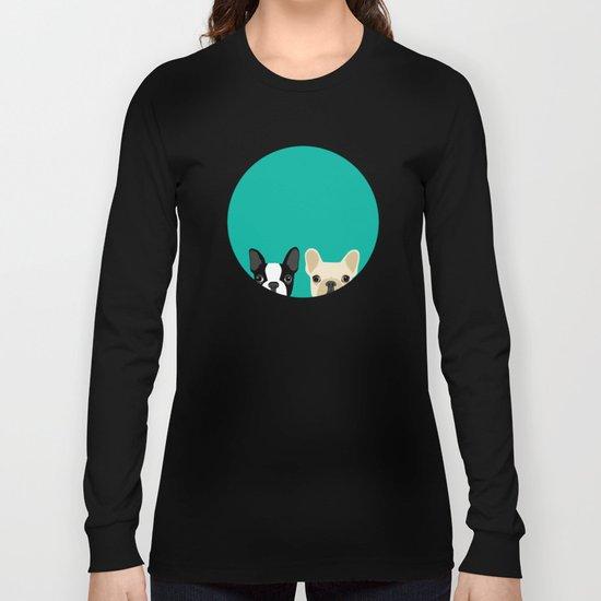 Boston Terrier & French Bulldog 2 Long Sleeve T-shirt
