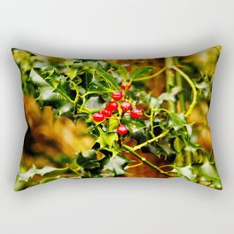 Winter Holly Rectangular Pillow