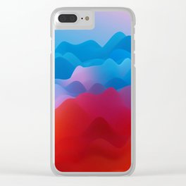 Wavey Hills Clear iPhone Case