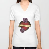 mom V-neck T-shirts featuring Mom by CCL Works